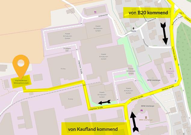 Anfahrt zu unserem Standort in Freilassing