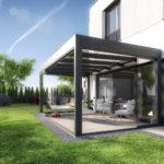 Überdachung der Terrasse als Anbau ans Haus