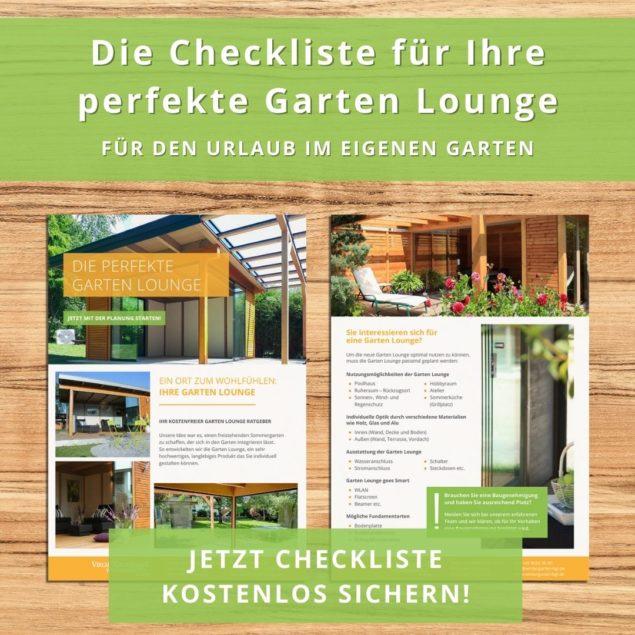 Garten Lounge Checkliste als Planungshilfe für den eigenen Sommergarten